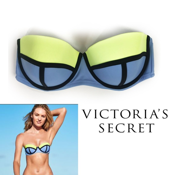 e5638a8947e5d Victoria's Secret Swim Flirt Colorblock Bikini Top